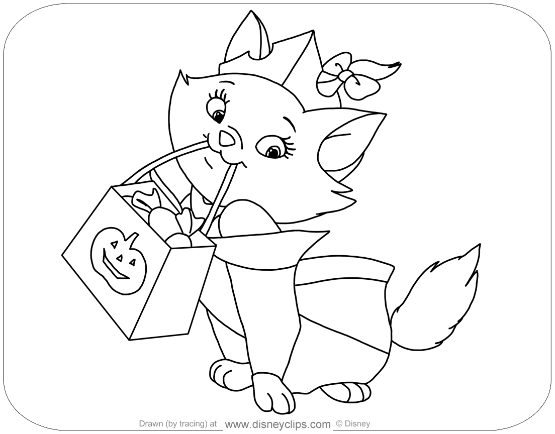 Disney Halloween Coloring Pages - Best Coloring Pages For Kids | 864x1104