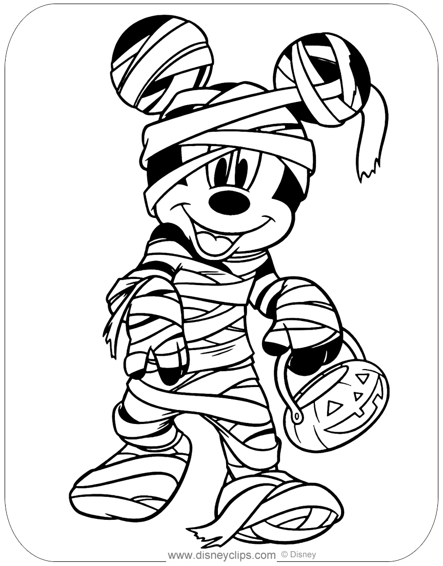 Disney Halloween Coloring Pages (2) | Disneyclips.com