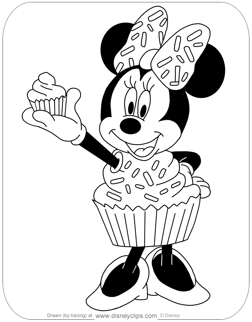 disney characters coloring pages easy cupcakes | Disney Halloween Coloring Pages 3 | Disney's World of Wonders