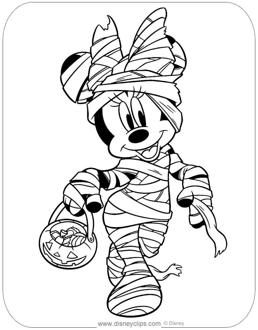 Disney Halloween Coloring Pages (3) | Disneyclips.com