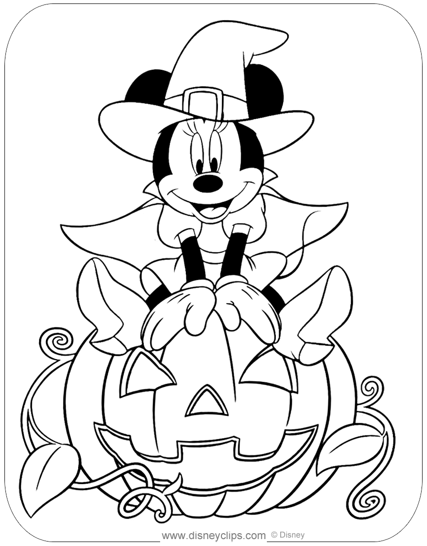 Disney Halloween Coloring Pages (4) | Disneyclips.com