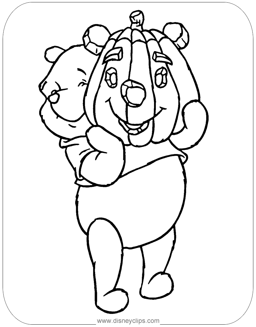 Tigger And Pooh In Halloween Costume Coloring Page | H & M ... | 1104x864