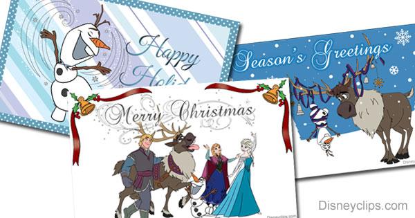 Printable Frozen Christmas Cards Disneyclips Com