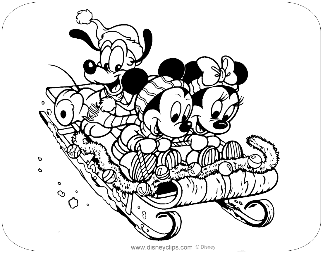 Disney Christmas Coloring Pages | Disneyclips.com