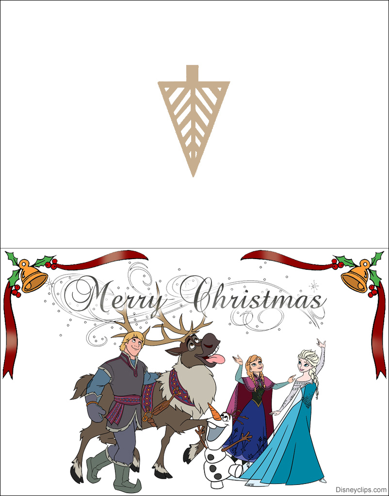 picture regarding Printable Photo Christmas Card identified as Printable Frozen Xmas Playing cards