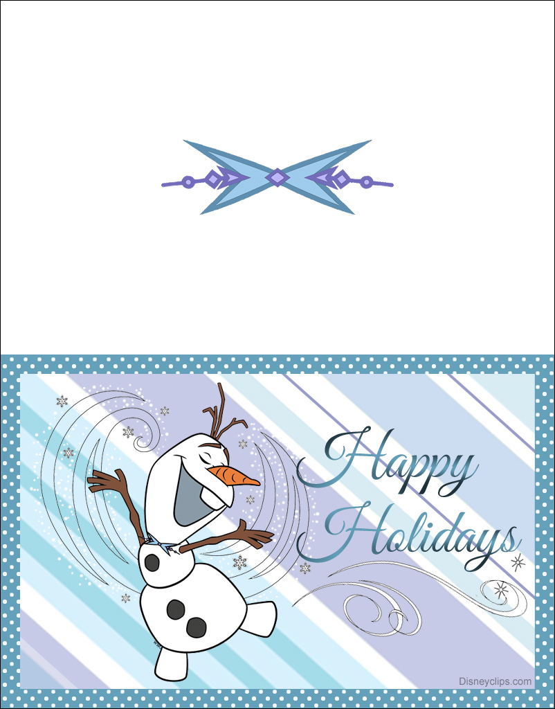 image about Happy Holidays Printable Card referred to as Printable Frozen Xmas Playing cards