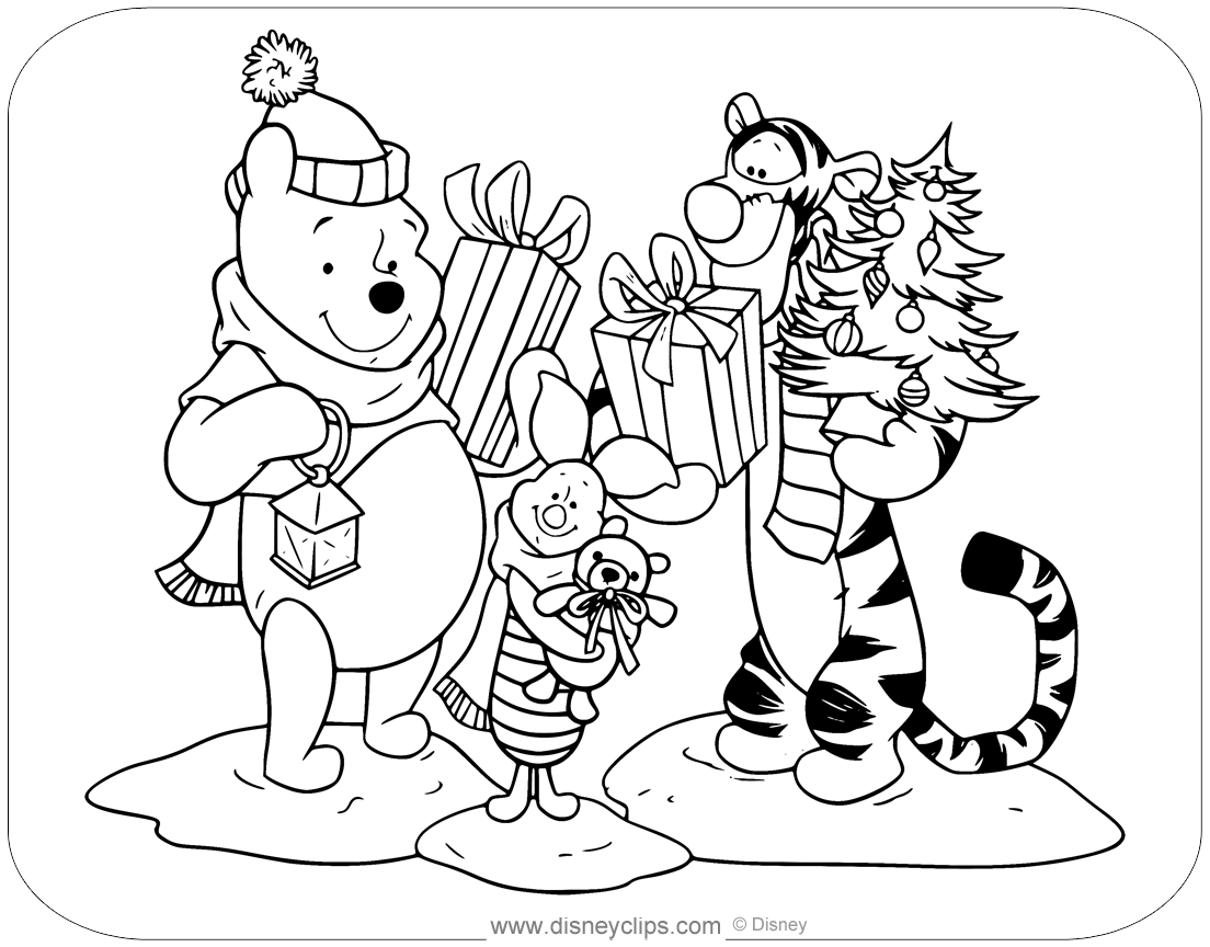 - Disney Christmas Coloring Pages (5) Disneyclips.com