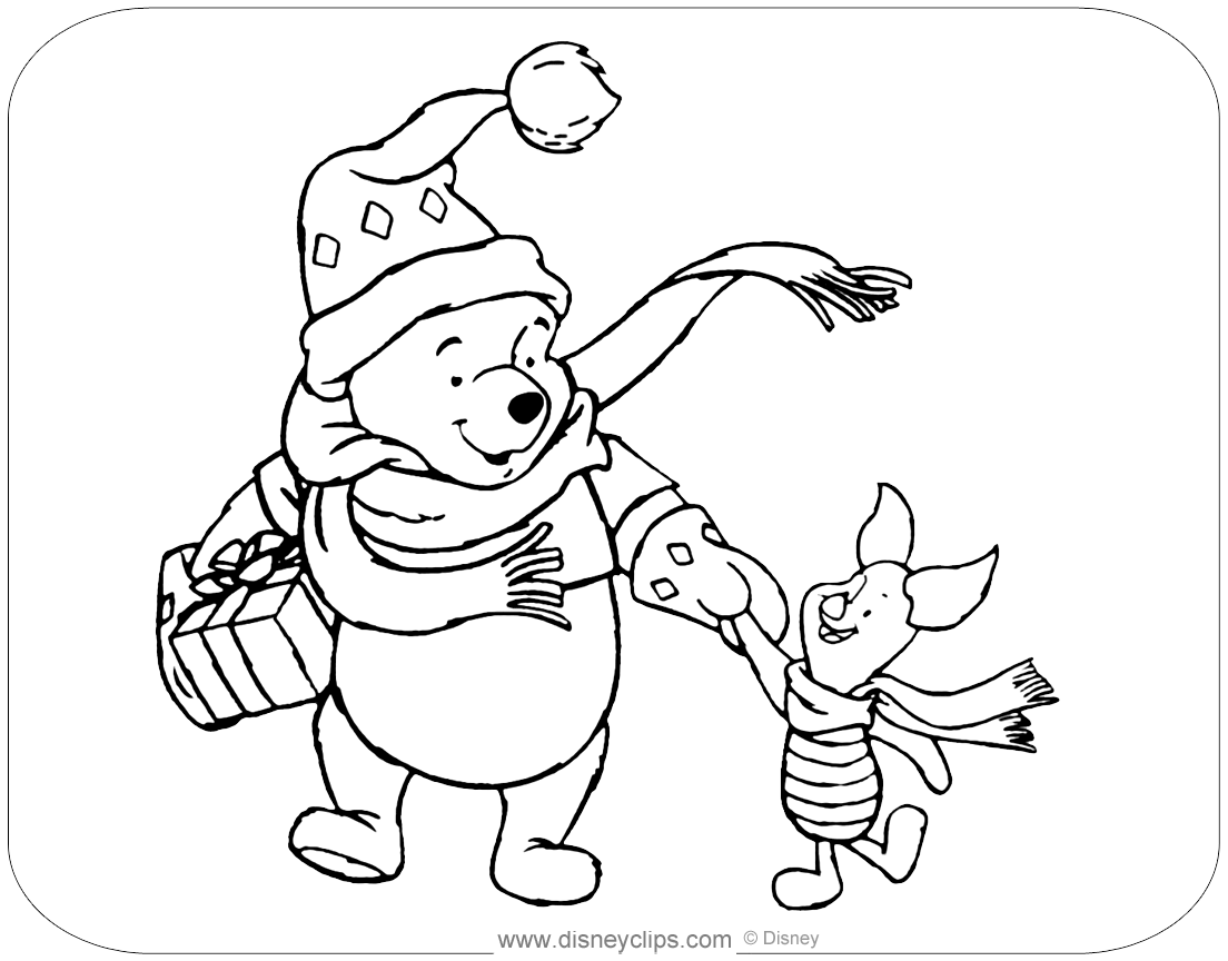 Images of Tigger Christmas Coloring Pages - Sabadaphnecottage