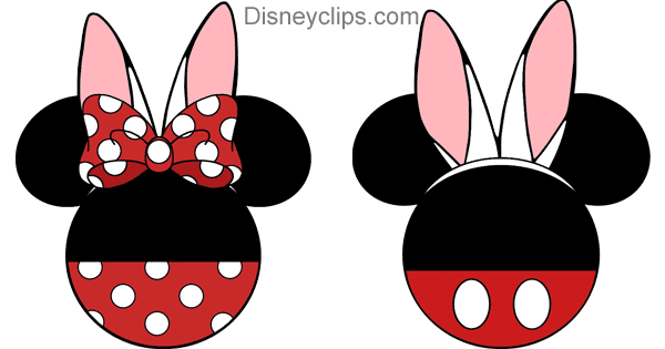 Mickey And Minnie Mouse Easter Bunny Ears Icons