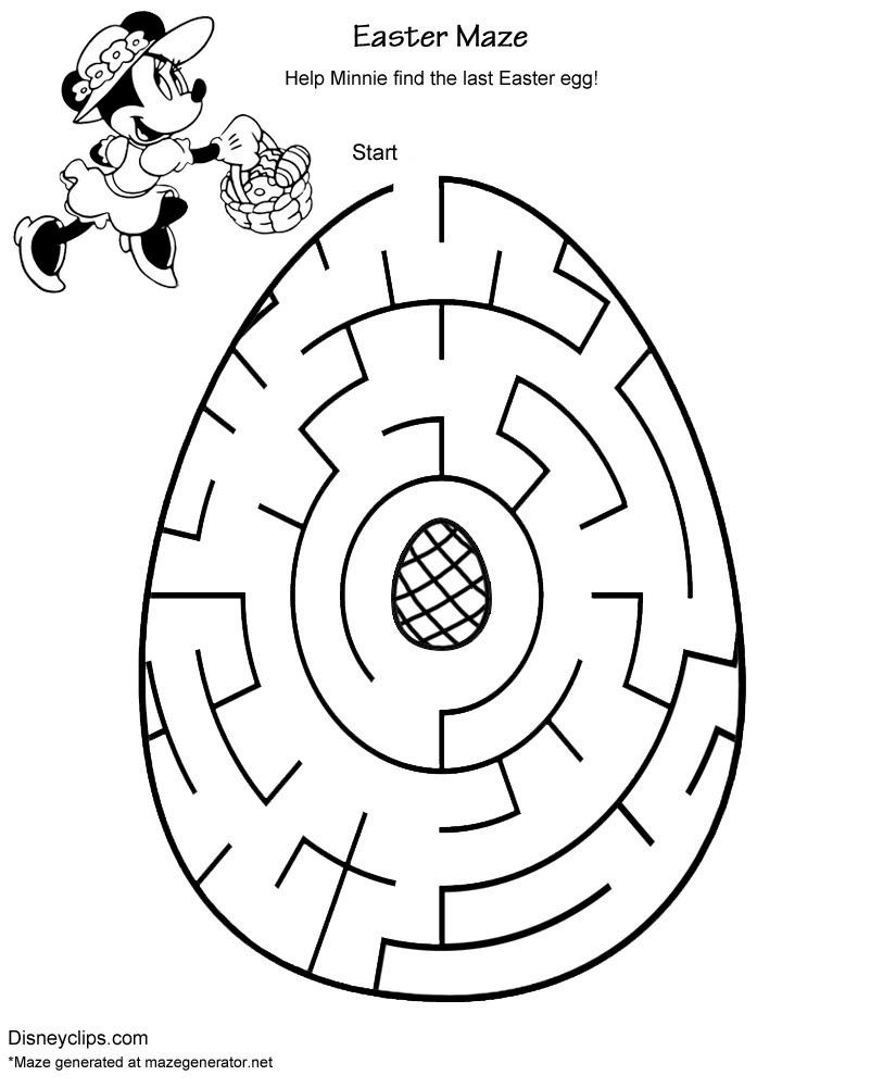 Printable Disney Easter Mazes