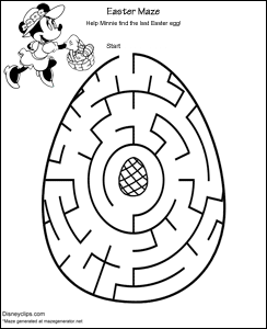 graphic relating to Easter Maze Printable identified as Printable Disney Easter Mazes