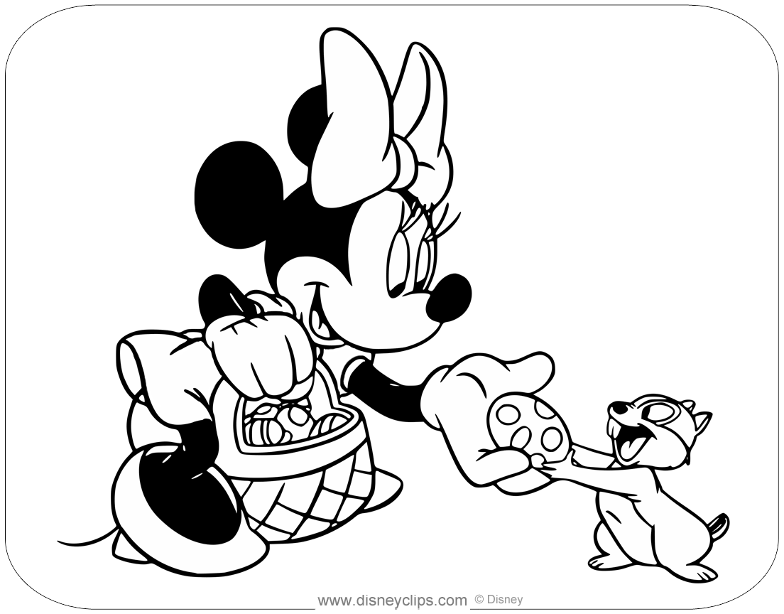 Printable Disney Easter Coloring Pages (2) | Disneyclips.com