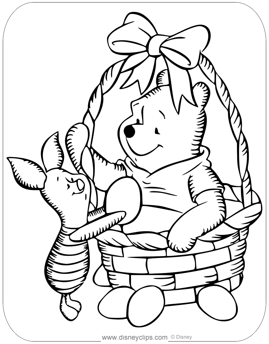Printable Disney Easter Coloring Pages 4 Disneyclips Com