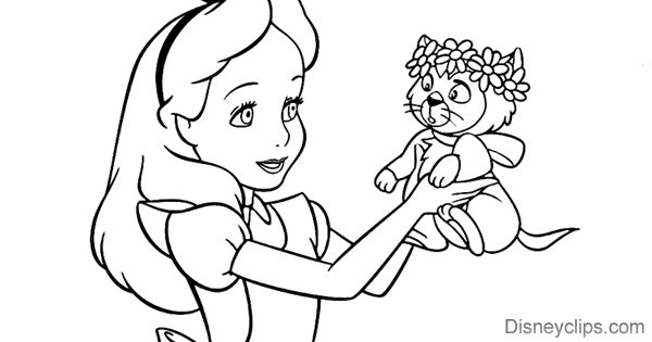 Alice In Wonderland Coloring Pages Disneyclips.com