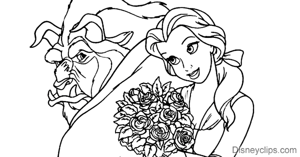 Beauty and the Beast Coloring Pages | Disney's World of ...Beauty And The Beast Coloring Page Beast