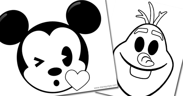 Disney Emojis Coloring Pages