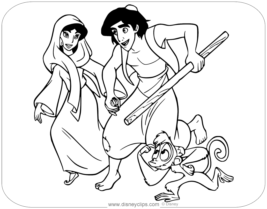 Aladdin Coloring Pages (5) | Disneyclips.com | 864x1104