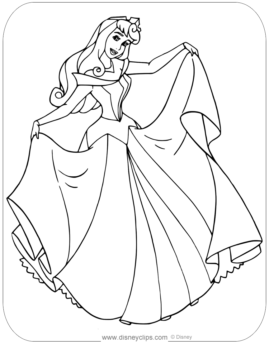 Sleeping Beauty Coloring Pages | Disneyclips.com