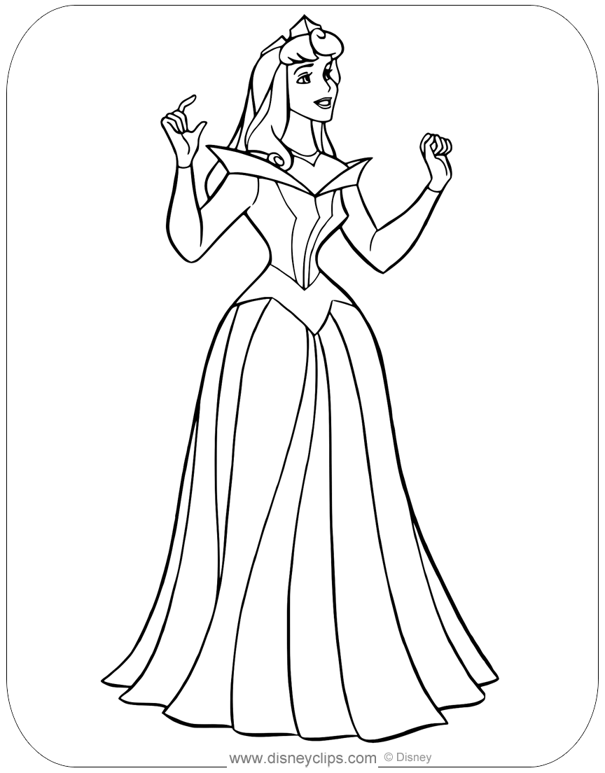 Princess Aurora Coloring Pages - GetColoringPages.com | 1104x864