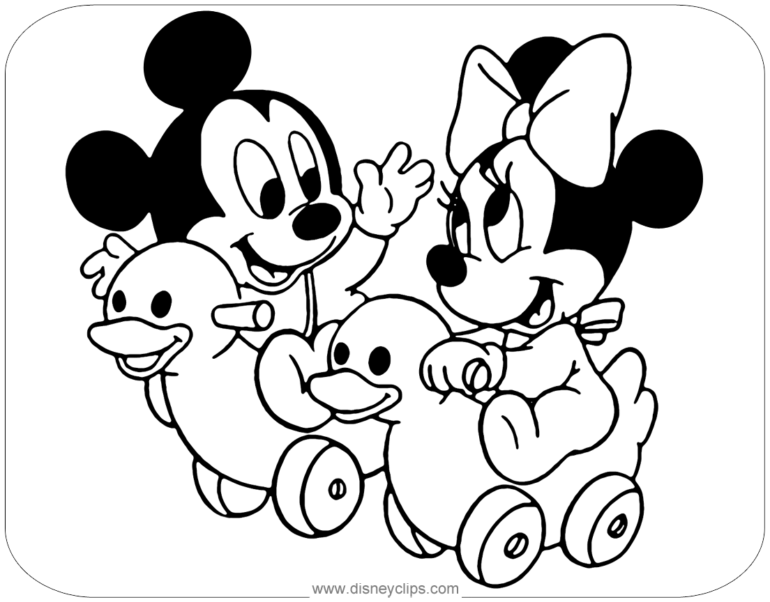 Disney Babies Coloring Pages 9 Disneyclips Com