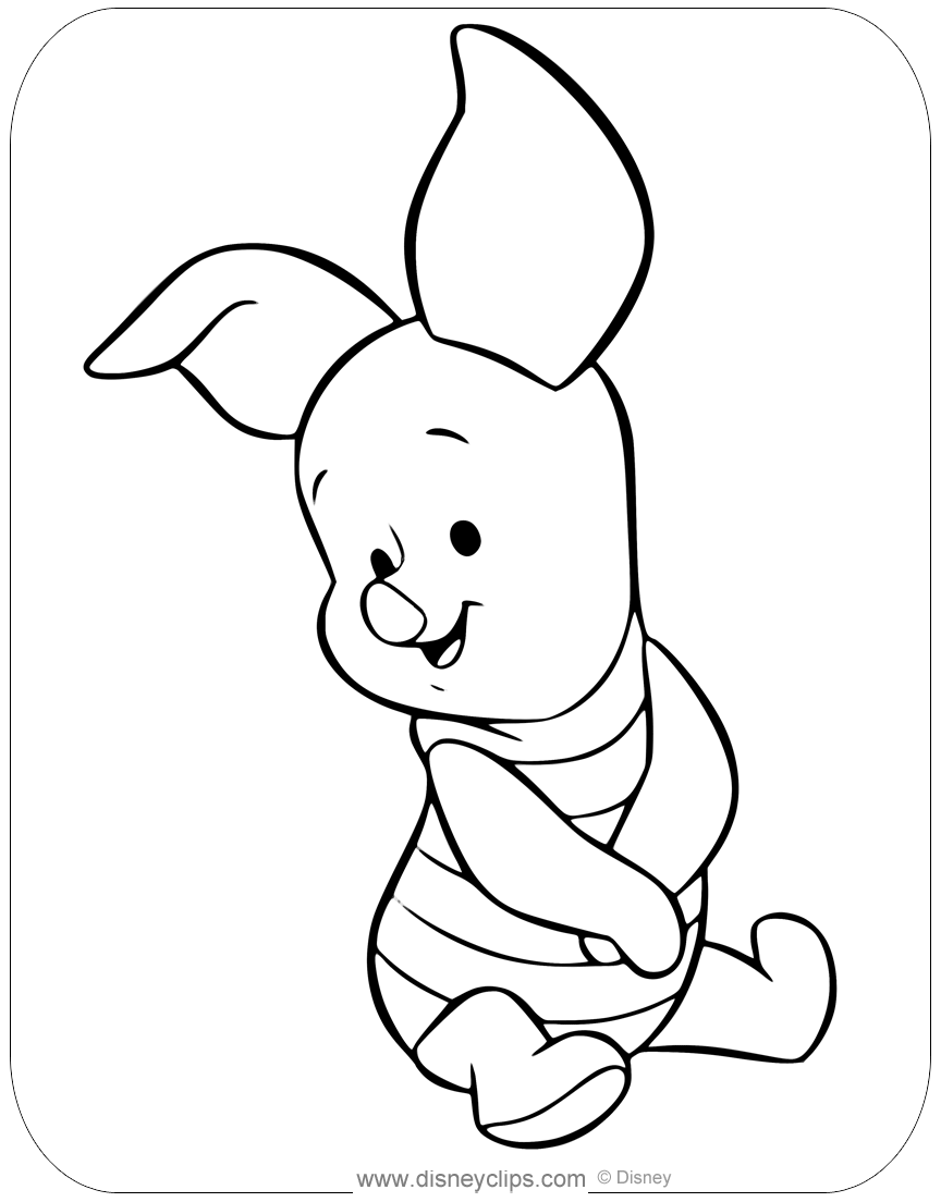 Baby Pooh Coloring Pages 2 Disneyclips Com