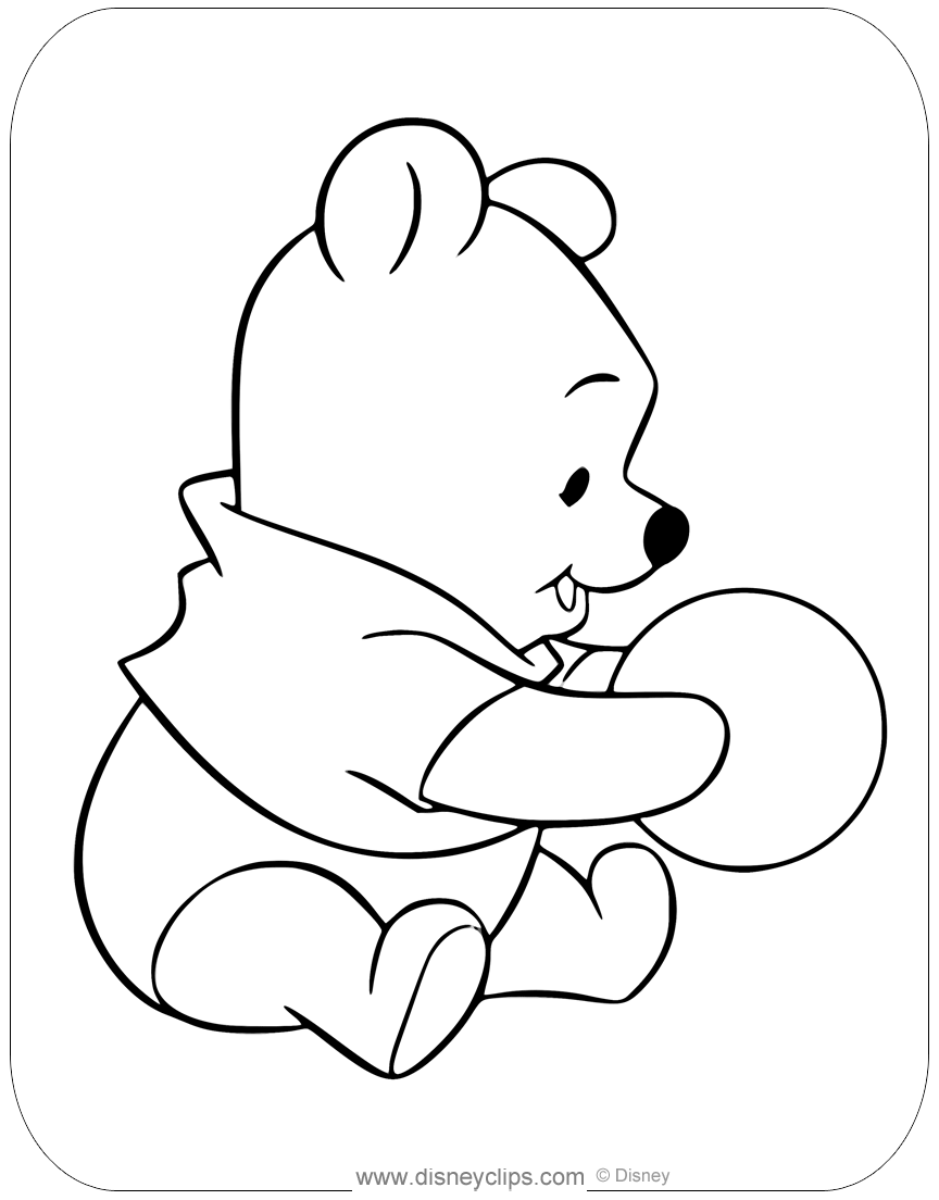 baby pooh coloring pages | disneyclips