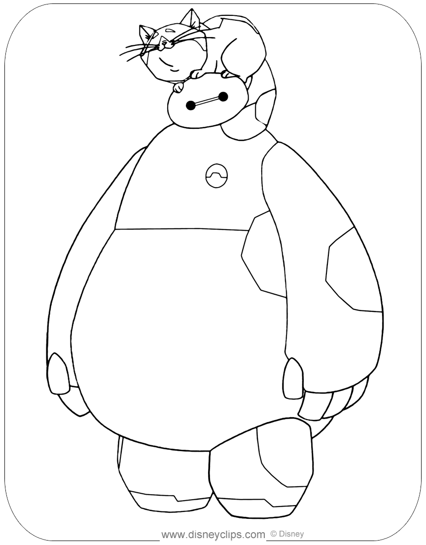 baymax coloring pages villian   Big Hero 6 Coloring Pages   Disneyclips.com