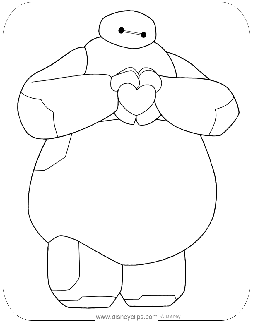 bamax coloring pages printable - photo#17