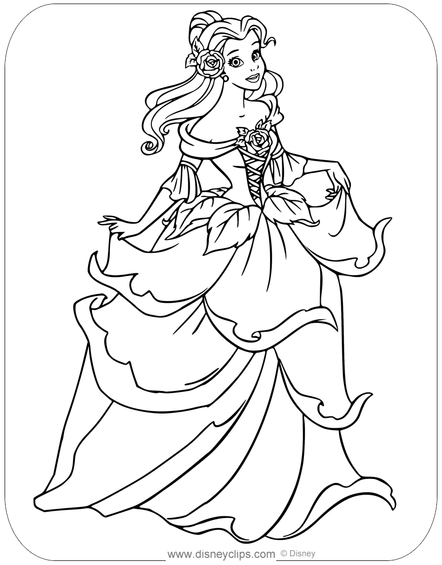 Beauty and the Beast Coloring Pages | Disneyclips.comBeauty And The Beast Coloring Page Beast