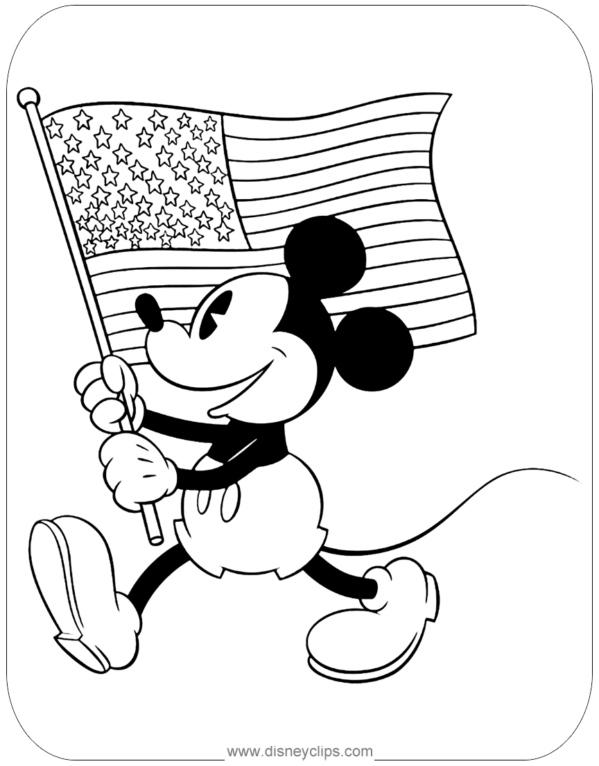 Classic Mickey Mouse Coloring Pages