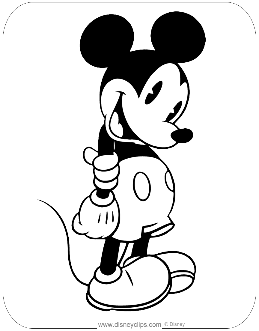 Classic Mickey Mouse Coloring Pages   Disneyclips.com