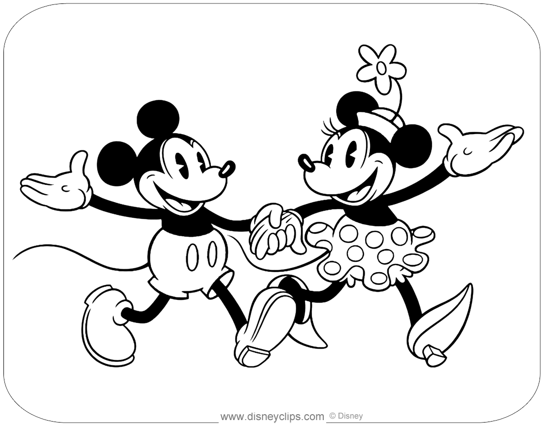 Classic Mickey and Friends Coloring Pages   Disneyclips.com