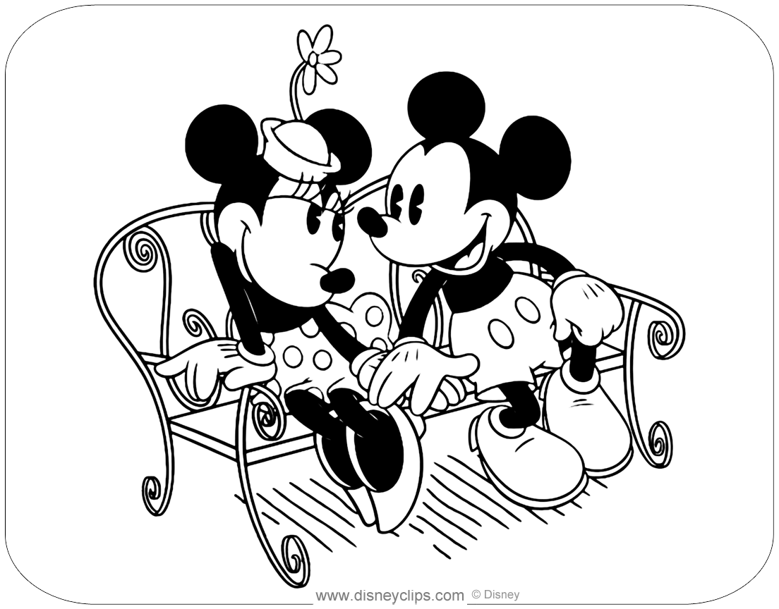 classic minnie mouse coloring pages 2