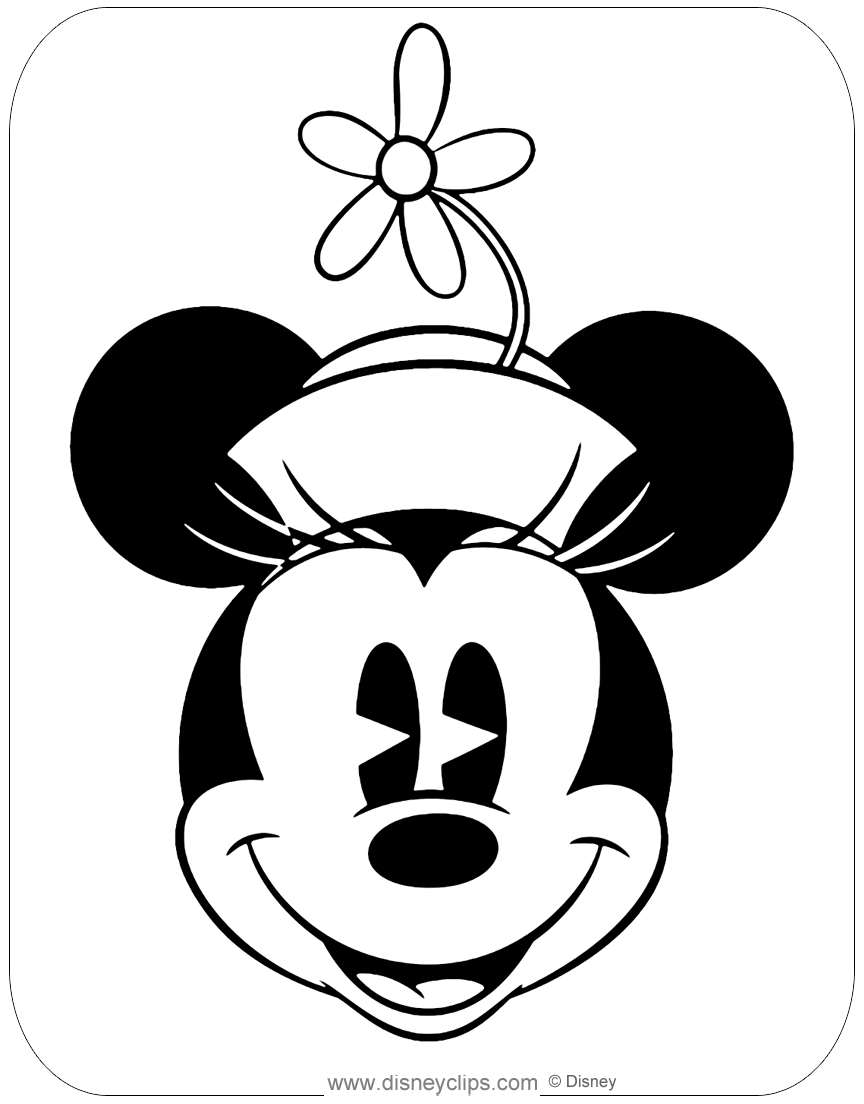 Classic Minnie Mouse Coloring Pages Disneyclips Com