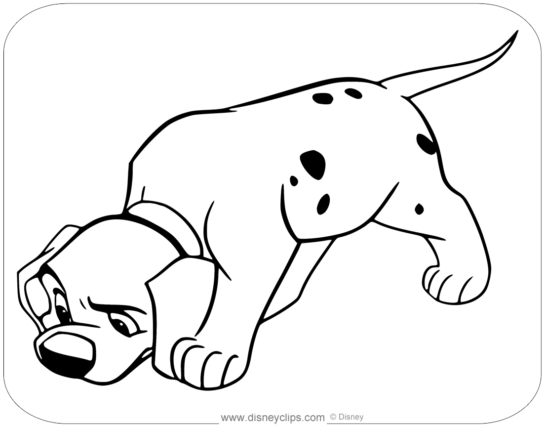 101 Dalmatians Coloring Pages Disneyclips Com