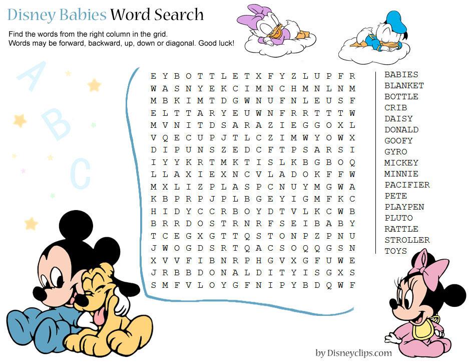 Printable Disney Word Search Games 2 Disney S World Of