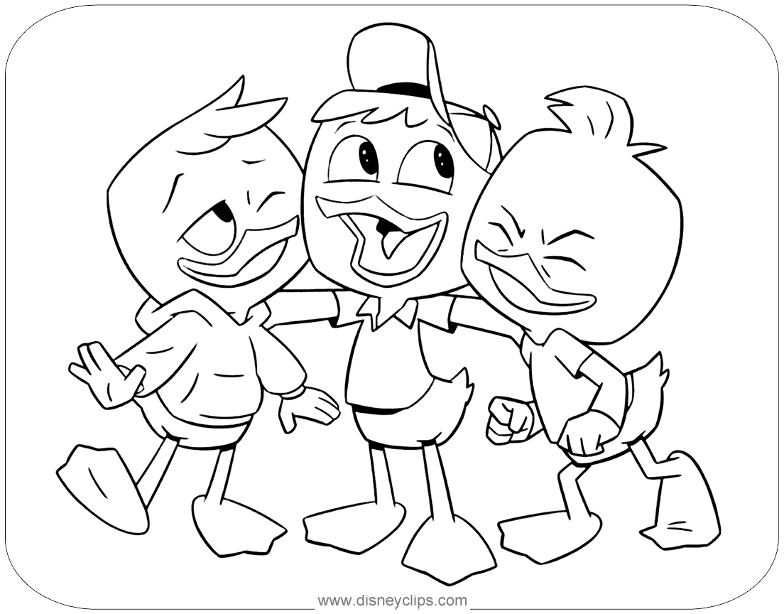 disney xd coloring pages | New Ducktales Coloring Pages | Disneyclips.com