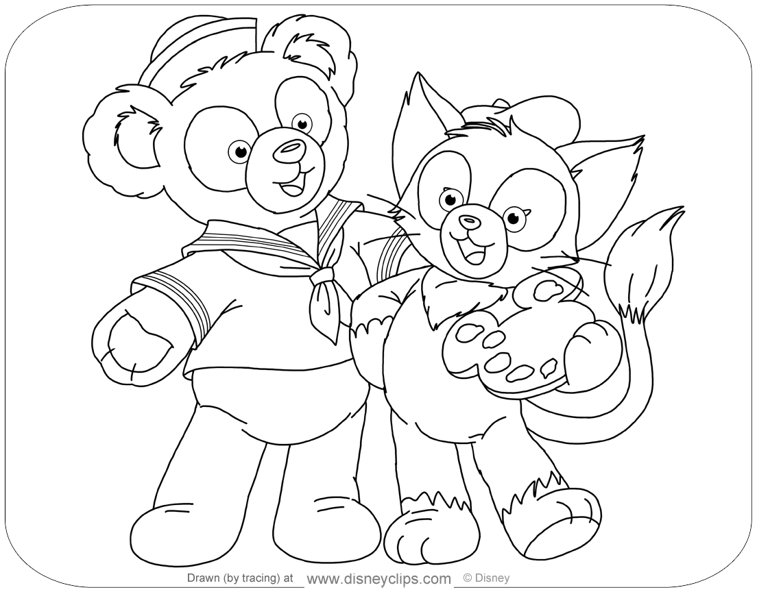 Duffy The Bear And Friends Coloring Pages