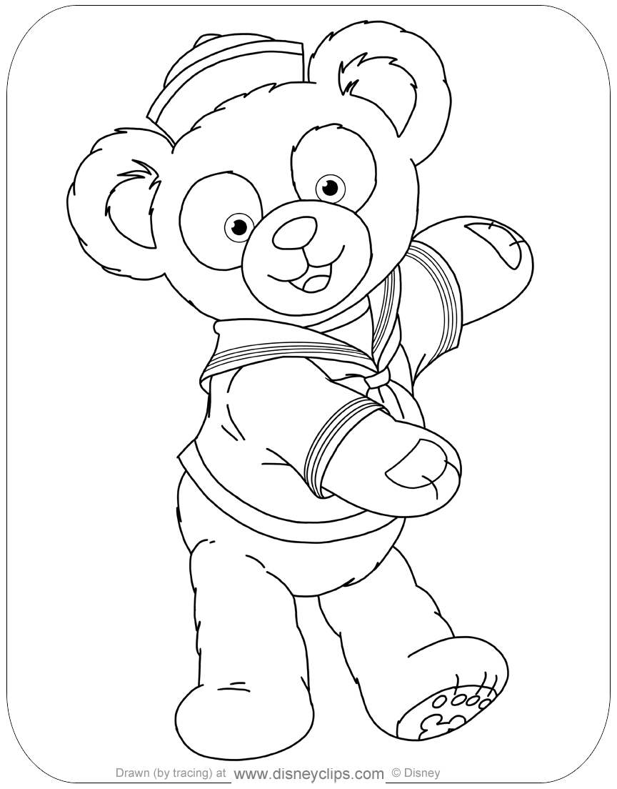 coloring pages and more com | Duffy the Bear and Friends Coloring Pages | Disneyclips.com