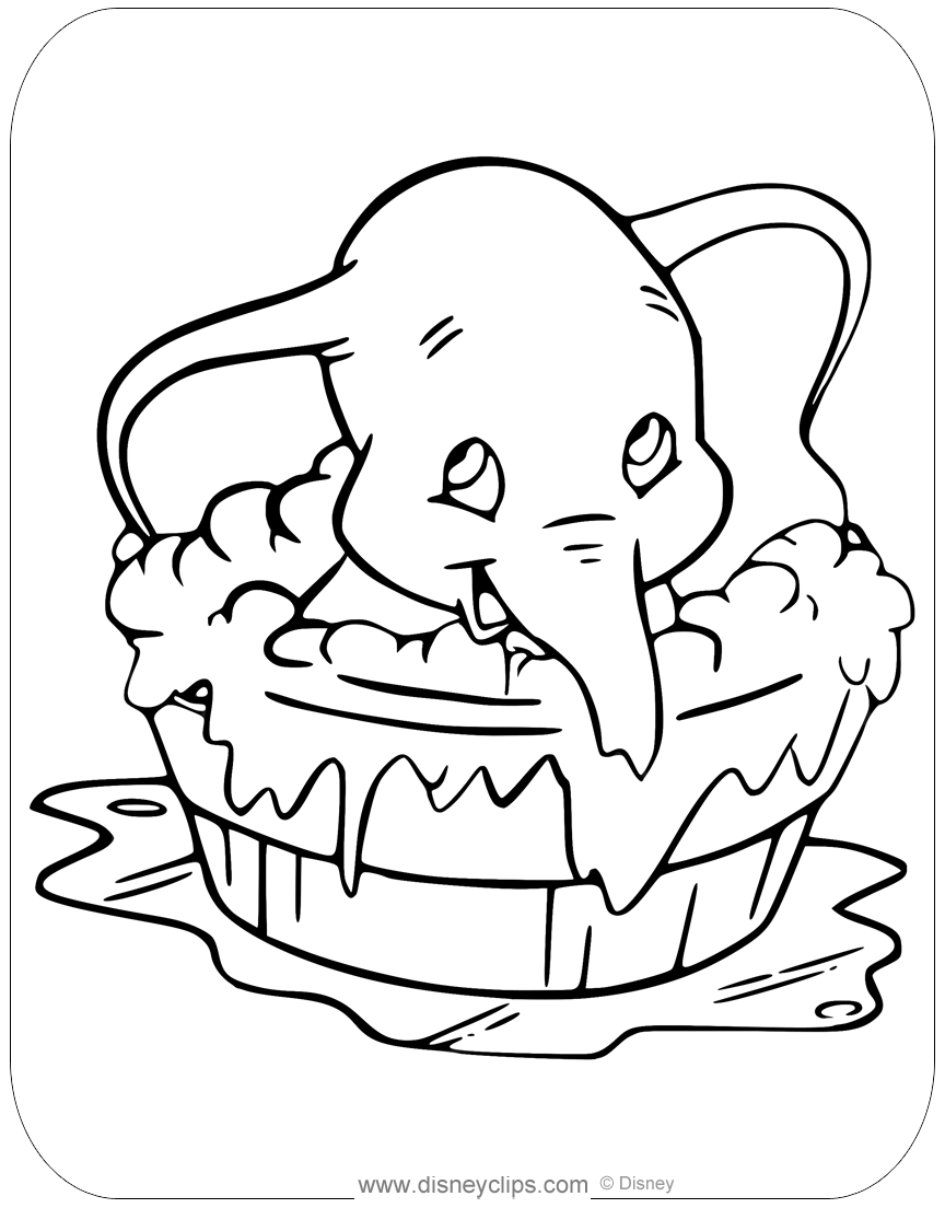 Disney 39 s Dumbo Coloring Pages Disneyclips