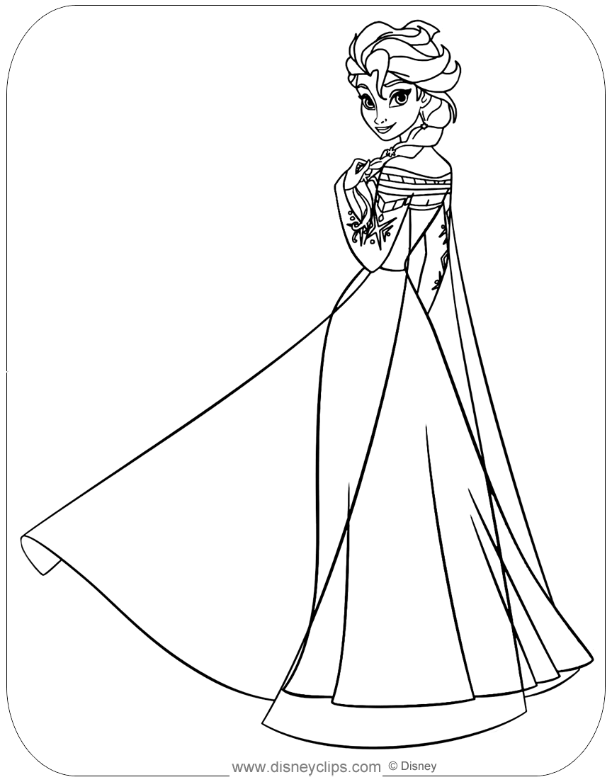 frozen cartoon characters coloring pages - photo#33