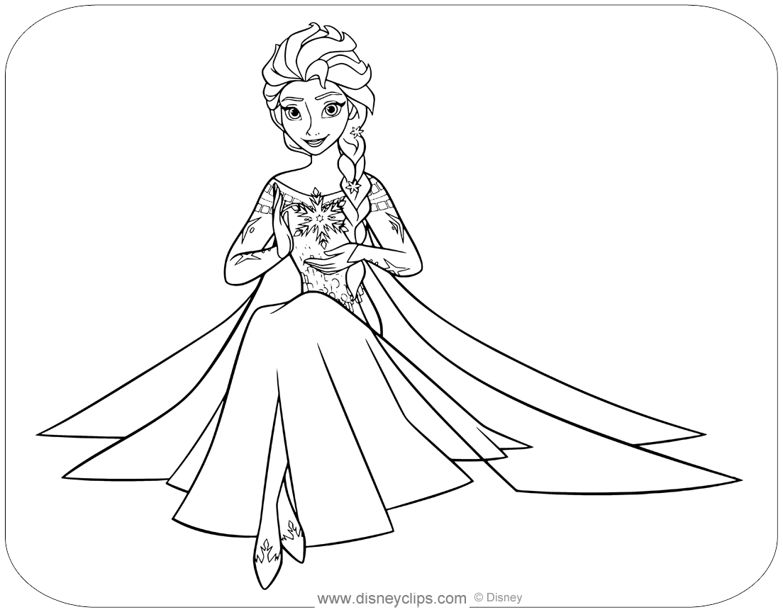 - Disney's Frozen Coloring Pages Disneyclips.com