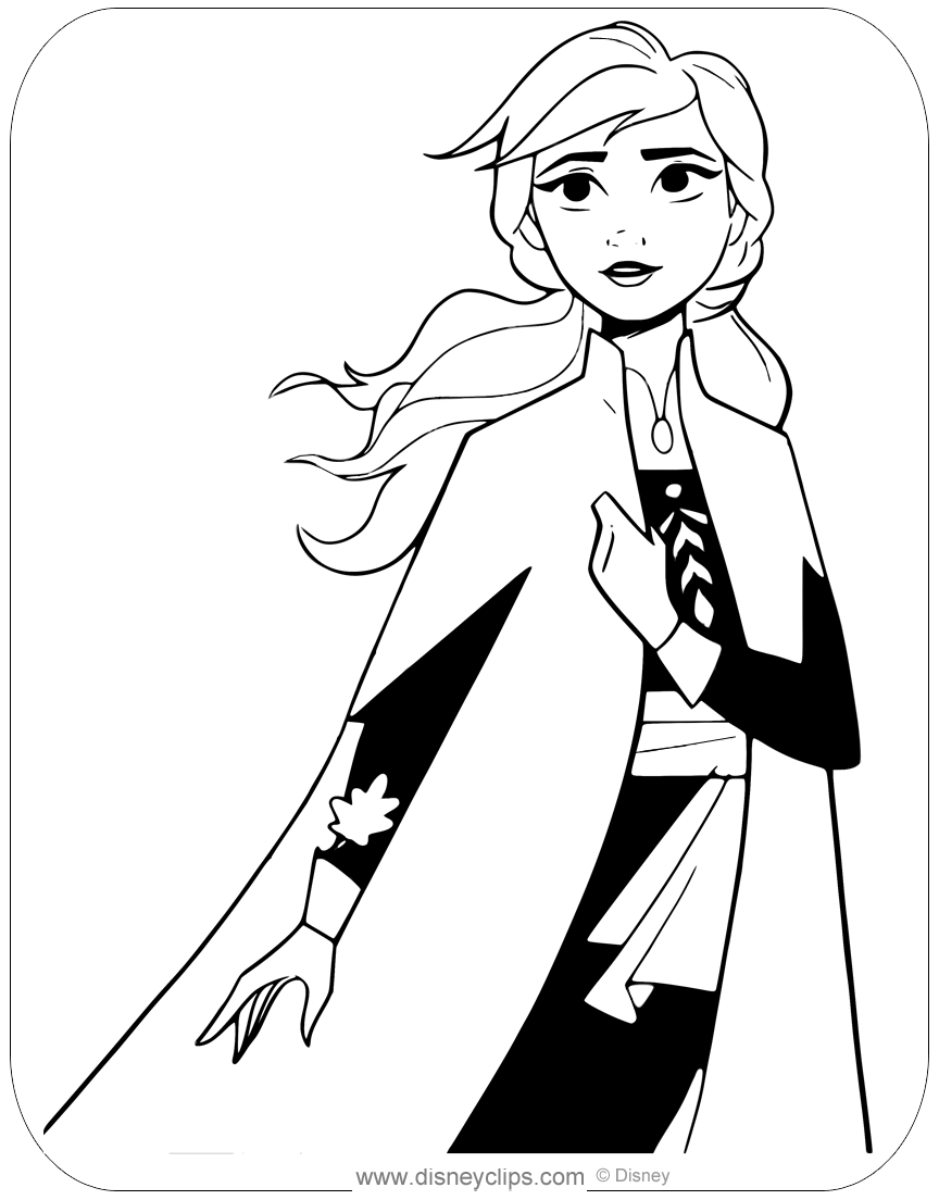 Frozen 2 Coloring Pages Anna - sheapeterson