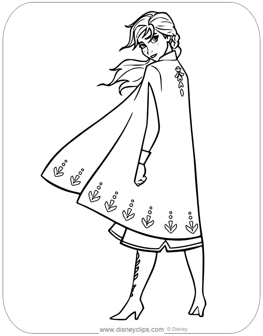 Disney\'s Frozen Coloring Pages | Disneyclips.com