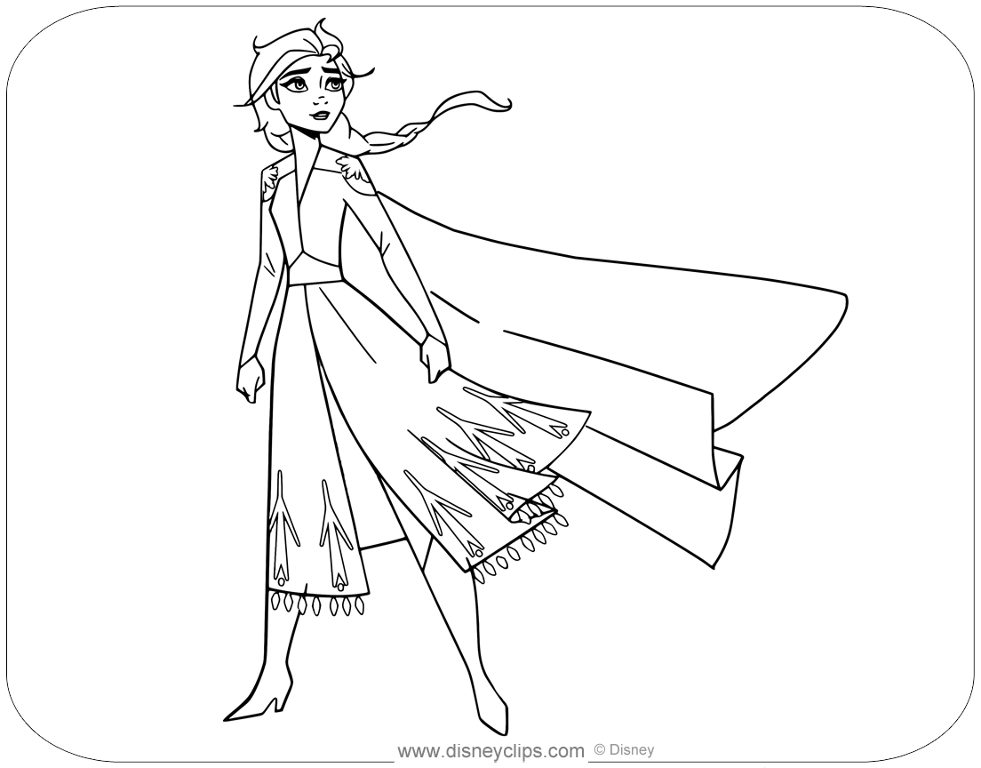 Disney S Frozen Coloring Pages Disneyclips Com