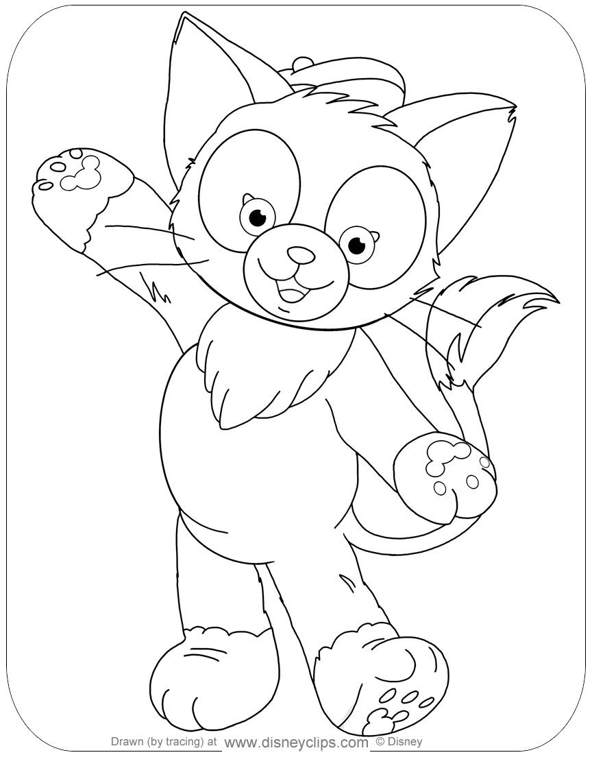 Duffy The Bear And Friends Coloring Pages Disneyclips Com