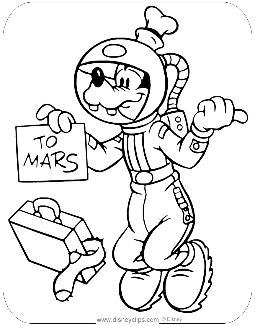Free Astronaut Outer Space Coloring Page, Download Free Clip Art ... | 1104x864