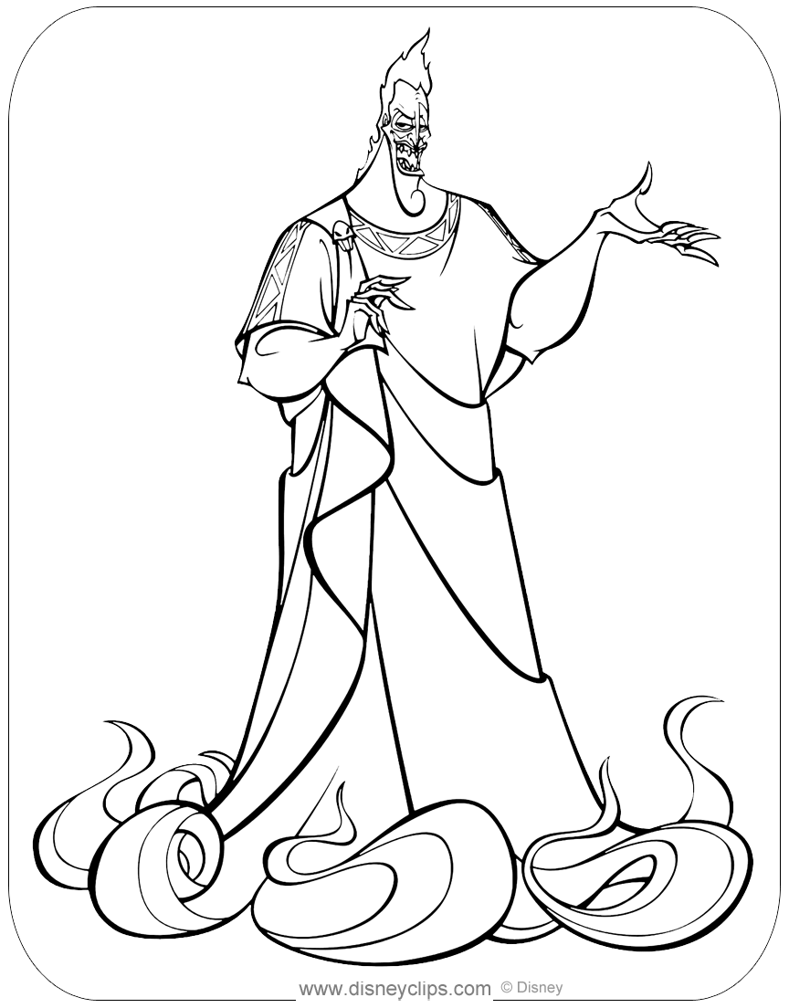 Hercules Coloring Pages 2 Disneyclips Com