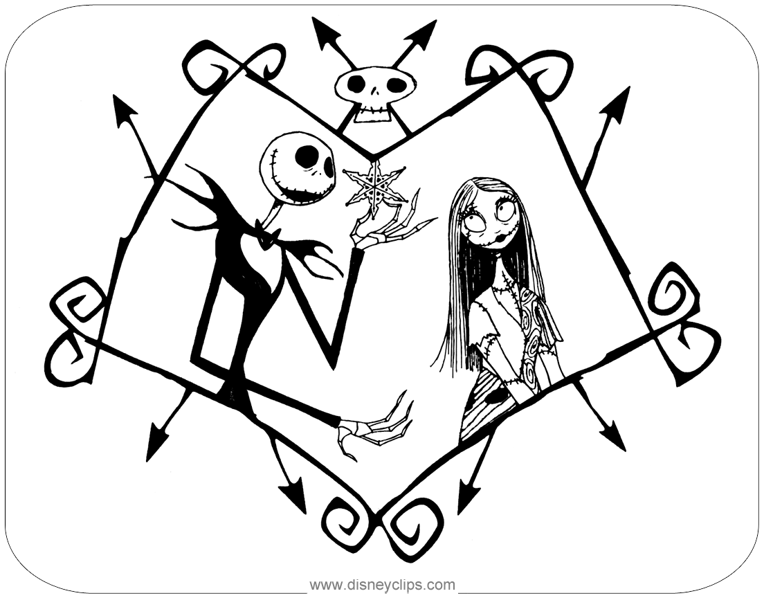 The Nightmare Before Christmas Coloring Pages Disneyclips Com