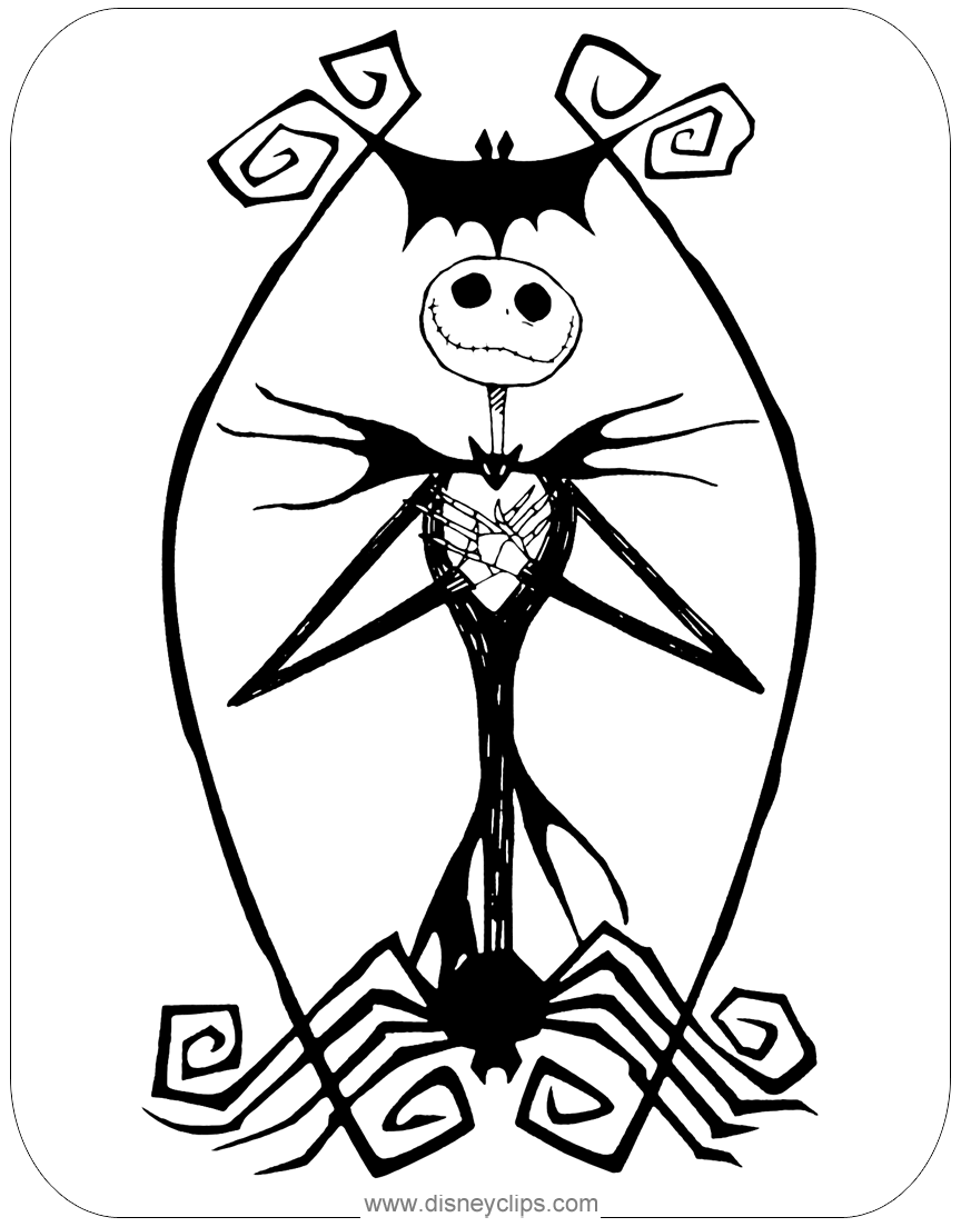 The Nightmare Before Christmas Coloring Pages ...